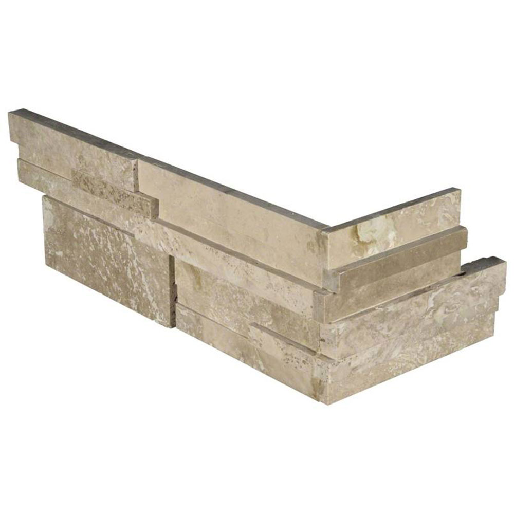 MS International RockMount Stacked Stone L Corner 3D 6 X 12 x 6 Durango Cream