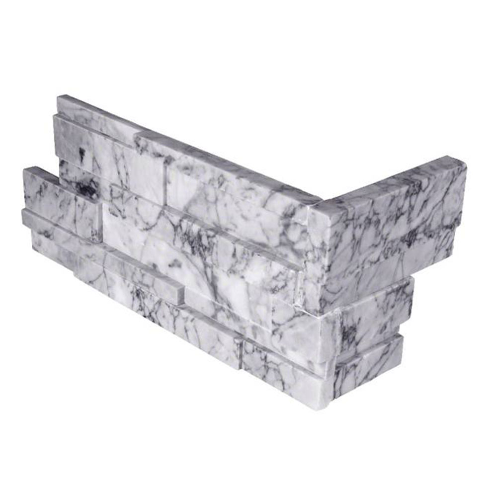 MS International RockMount Stacked Stone L Corner 3D 6 X 12 x 6 Statuarietto Capri