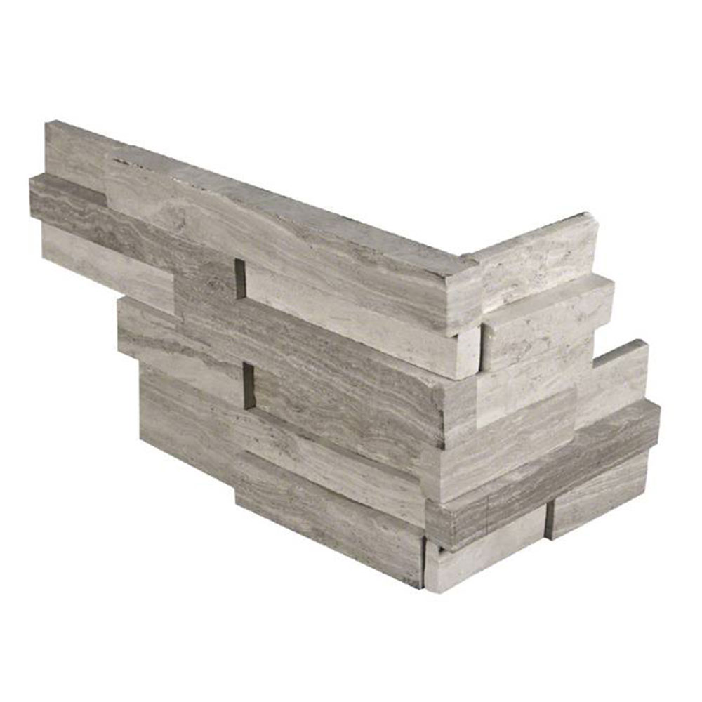 MS International RockMount Stacked Stone L Corner 3D 6 X 12 x 6 White Oak