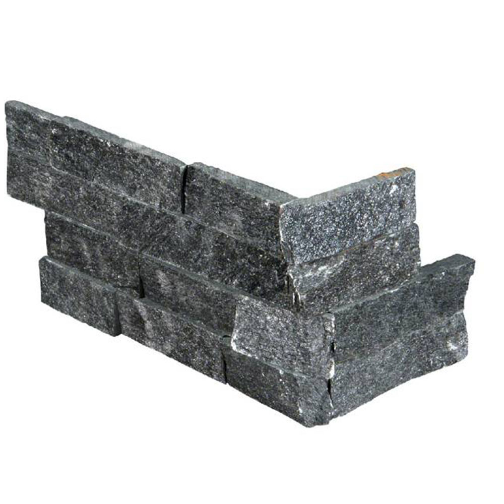 RockMount Stacked Stone L Corner 6 X 12 x 6 Coal Canyon