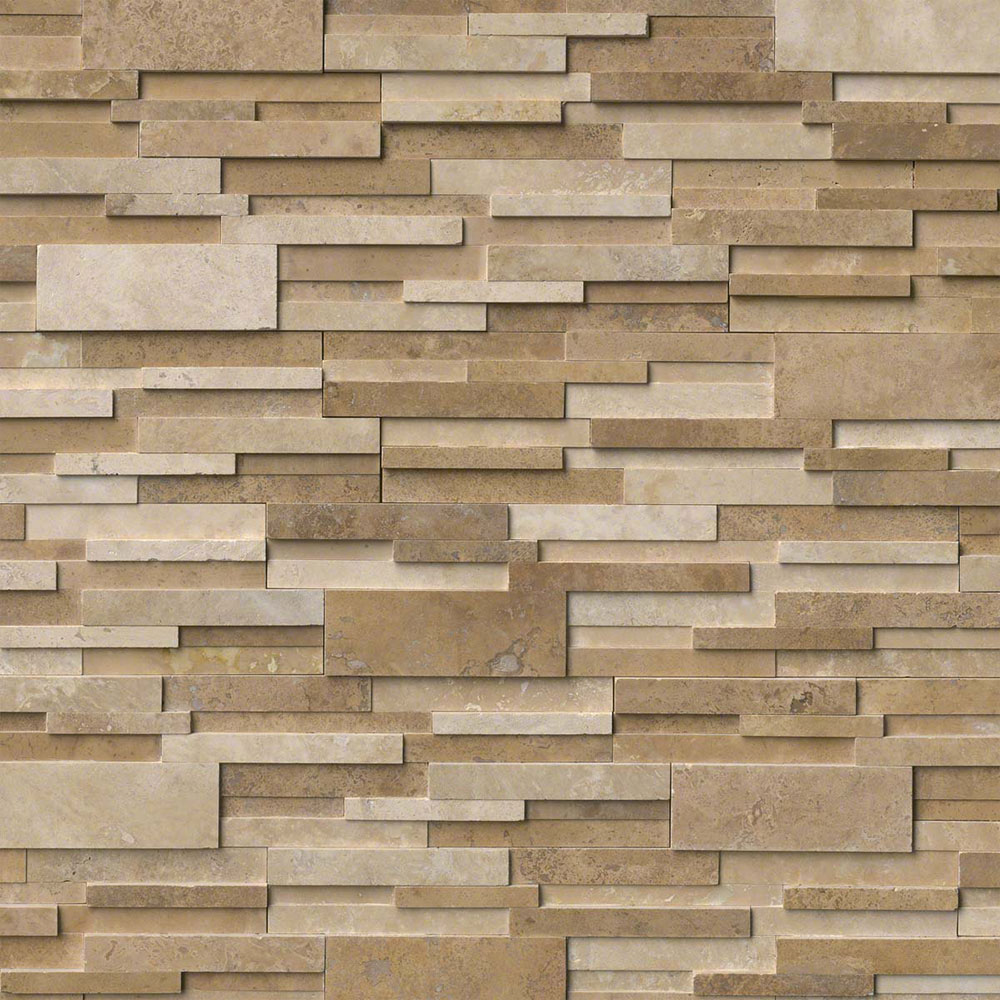 MS International RockMount Stacked Stone Panels 3D 6 X 24 Casa Blend