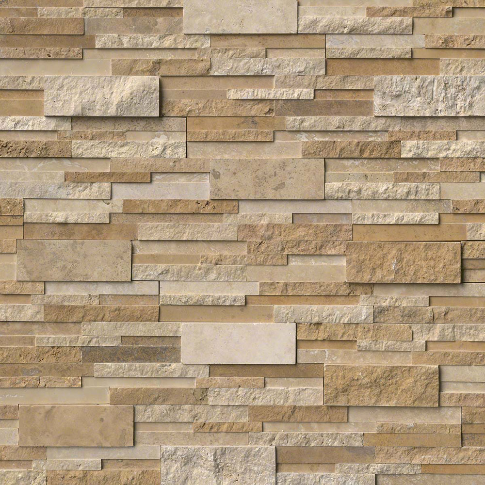 MS International RockMount Stacked Stone Panels 3D 6 X 24 Casa Blend Multi Finish