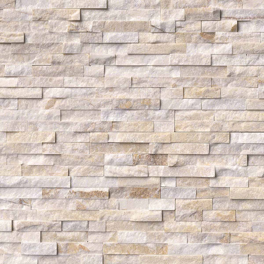 MS International RockMount Stacked Stone Panels 6 X 24 Arctic Golden
