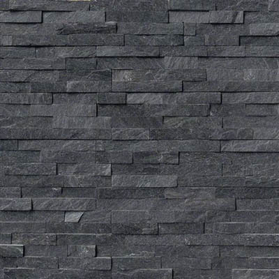 MS International RockMount Stacked Stone Panels 6 X 24 Coal Canyon