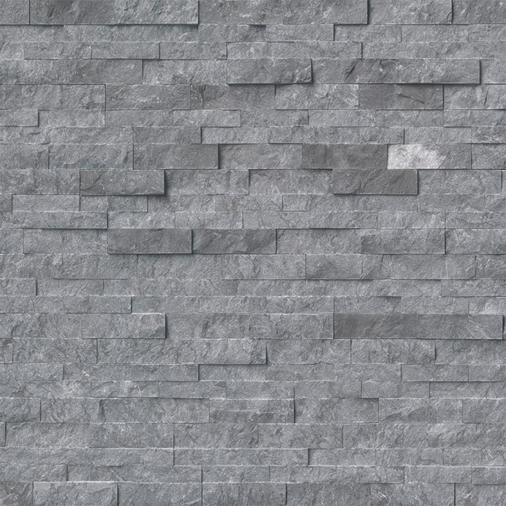 MS International RockMount Stacked Stone Panels 6 X 24 Glacial Grey