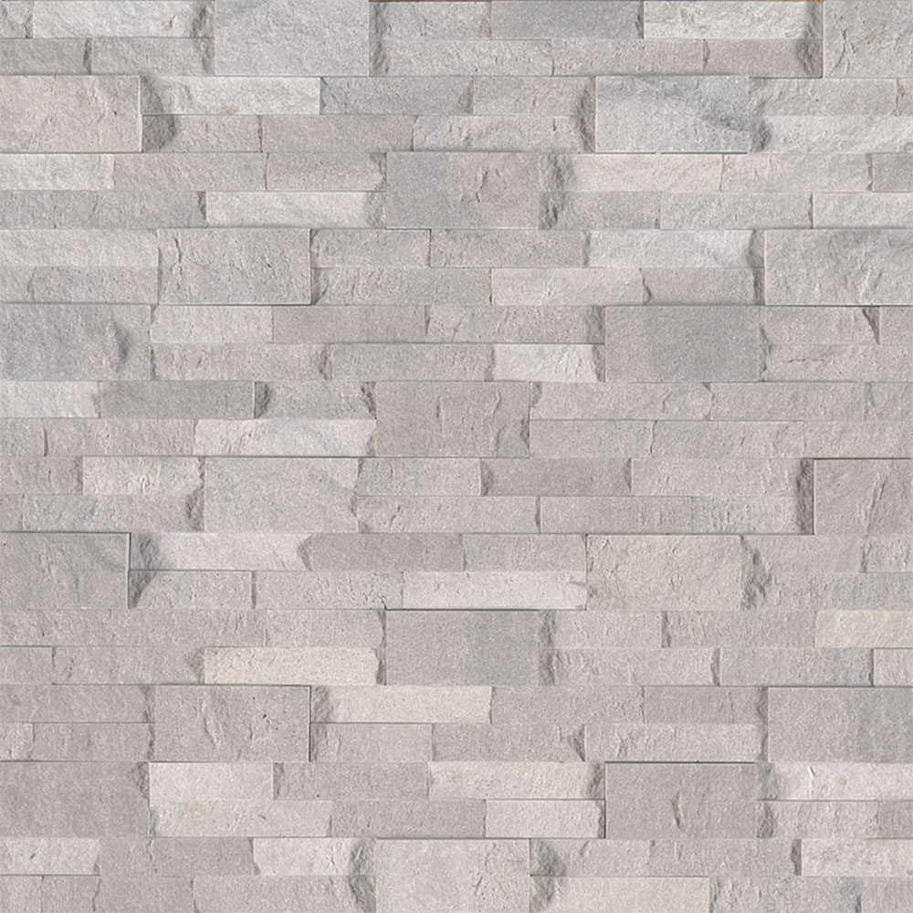 MS International RockMount Stacked Stone Panels 6 X 24 Iceland Gray