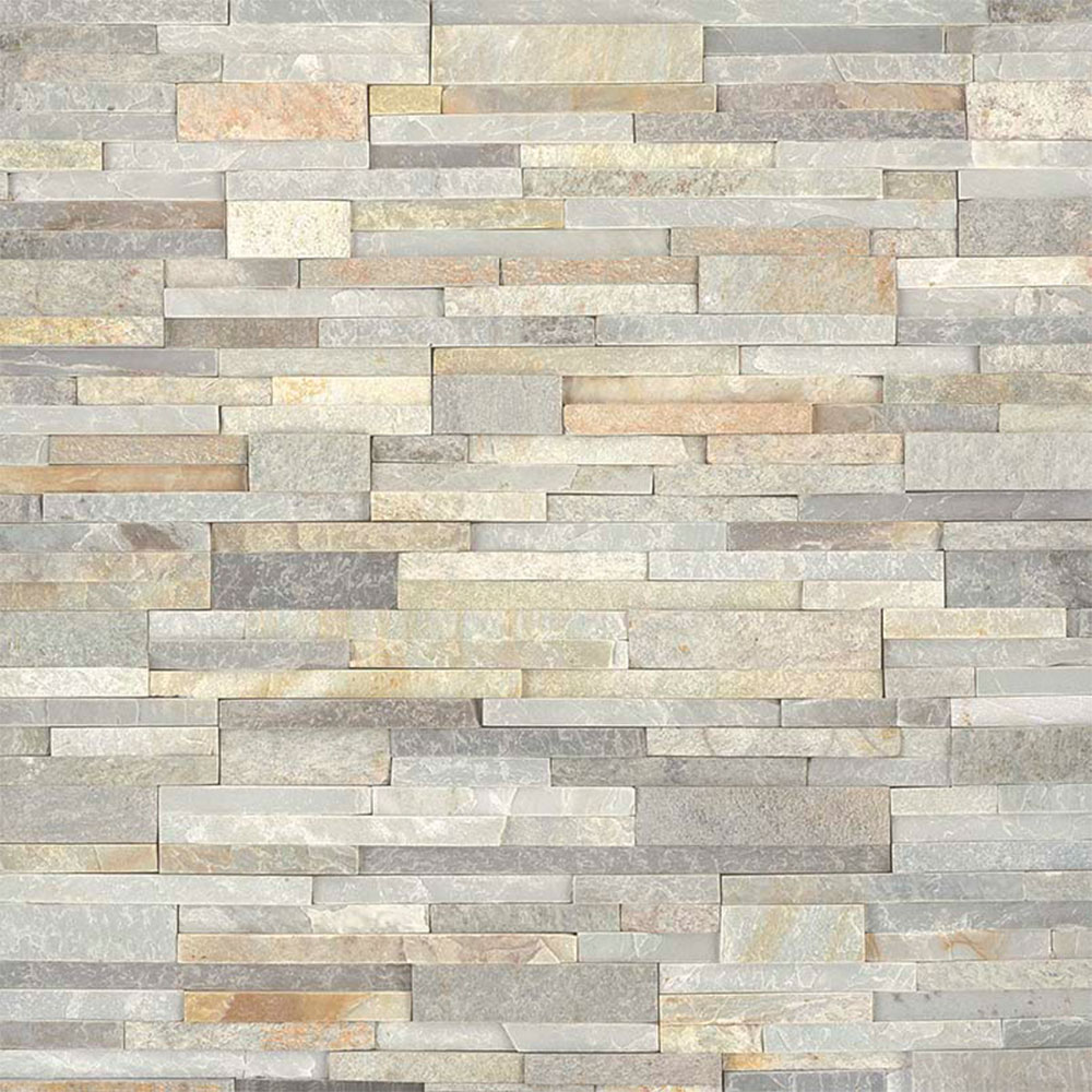 MS International RockMount Stacked Stone Panels 6 X 24 New Golden Honey