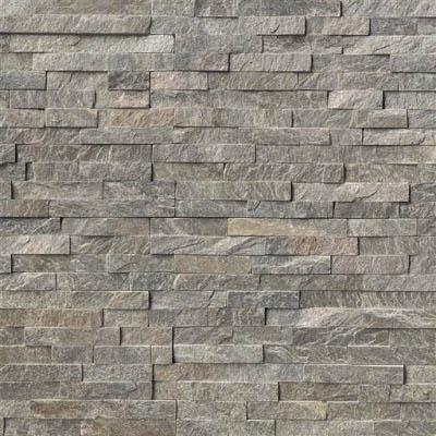 MS International RockMount Stacked Stone Panels 6 X 24 Sage Green