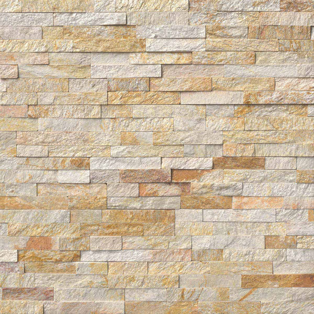 MS International RockMount Stacked Stone Panels 6 X 24 Sparkling Autumn
