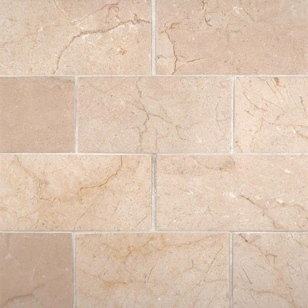 MS International Marble 3 x 6 Honed Crema Marfil