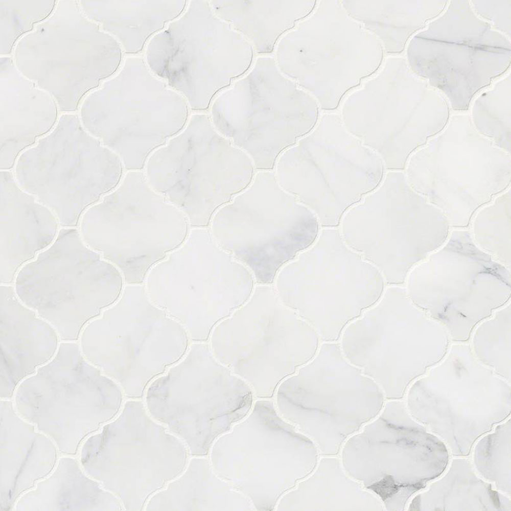 MS International Marble Mosaics Arabesque Calacatta Cressa