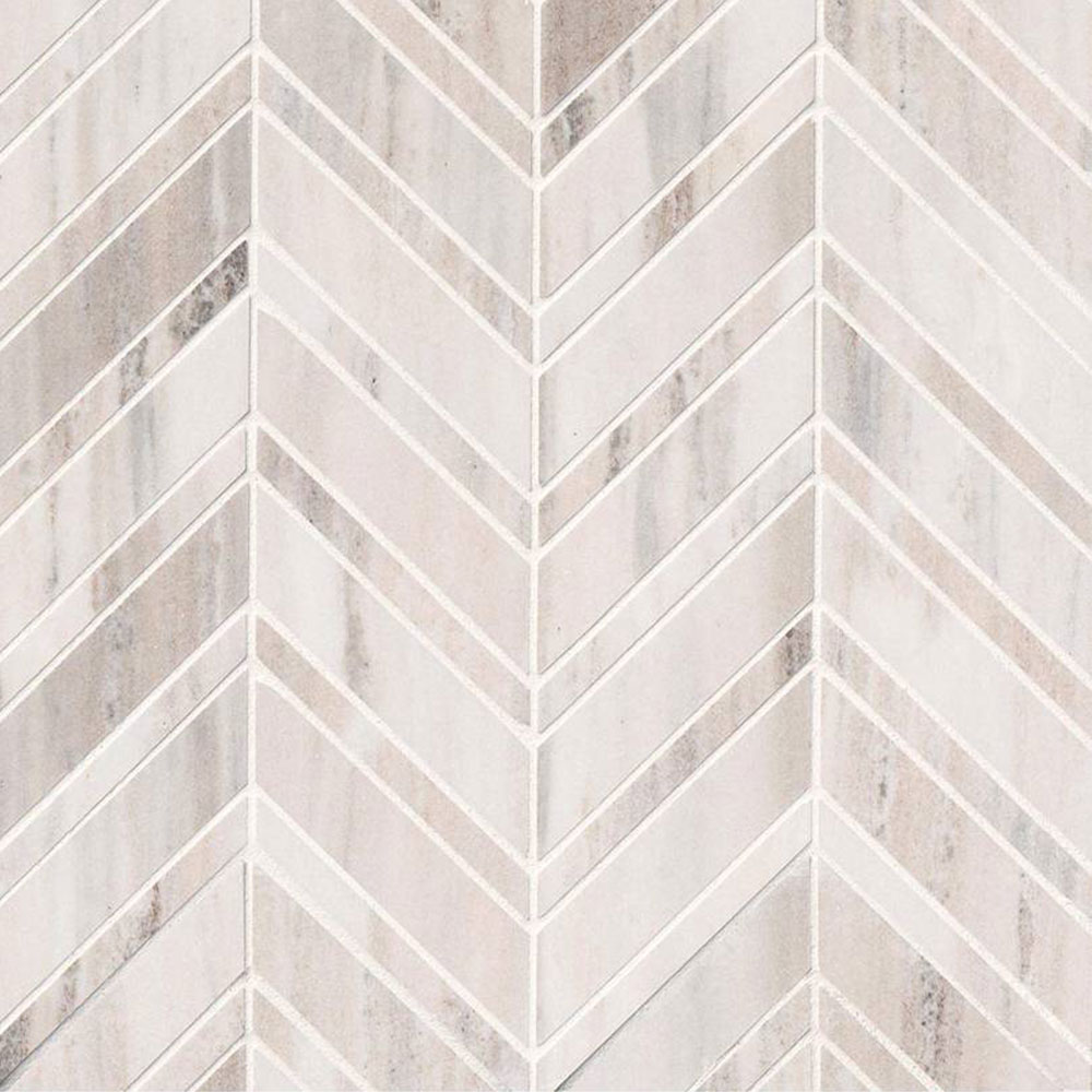 MS International Marble Mosaic Chevron Palisandro