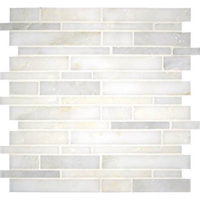 MS International Marble Mosaics Interlocking Honed Greecia White