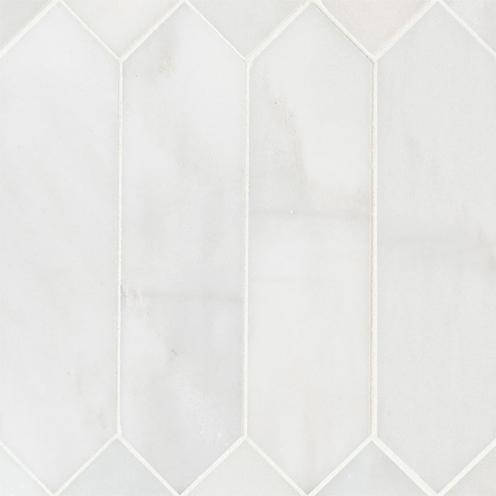 MS International Marble Mosaics Other Honed Arabescato Carrara Picket