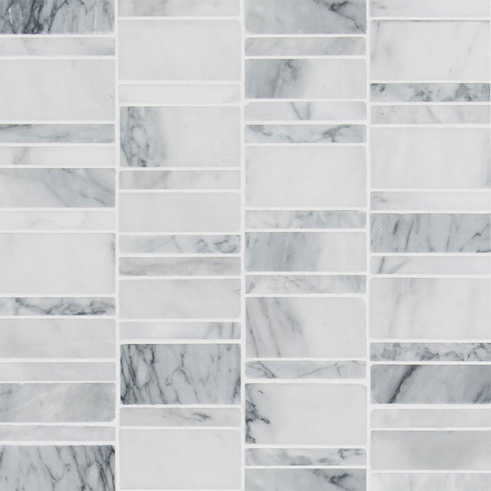 MS International Marble Mosaics Other Honed Carrara Classique Multi Pattern