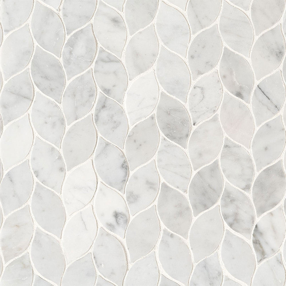 MS International Marble Mosaics Other Honed Carrara White Blanco Pattern