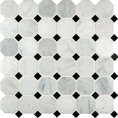 MS International Marble Mosaics Octagon Polished Greecian White