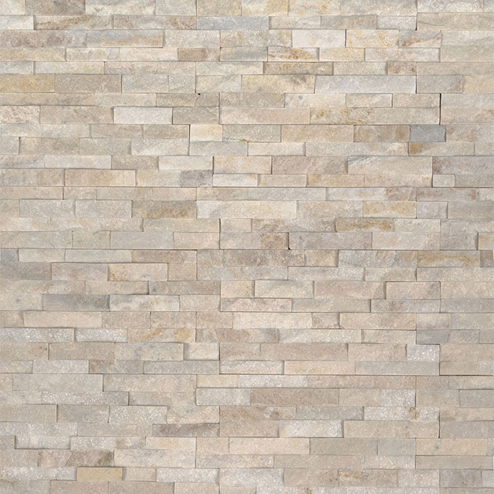 Exterior: MS International Mini Stacked Stone Panels Arctic Golden