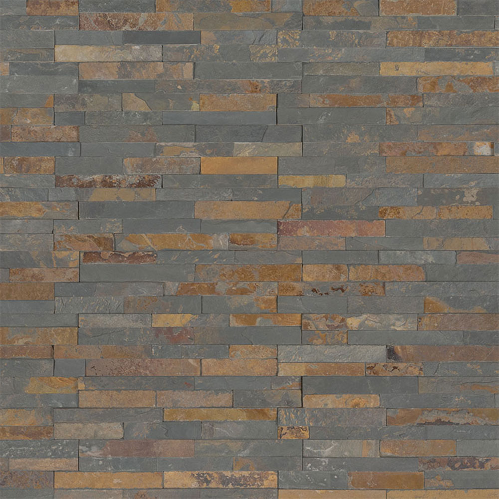 MS International RockMount Stacked Stone M-Series Panels Gold Rush