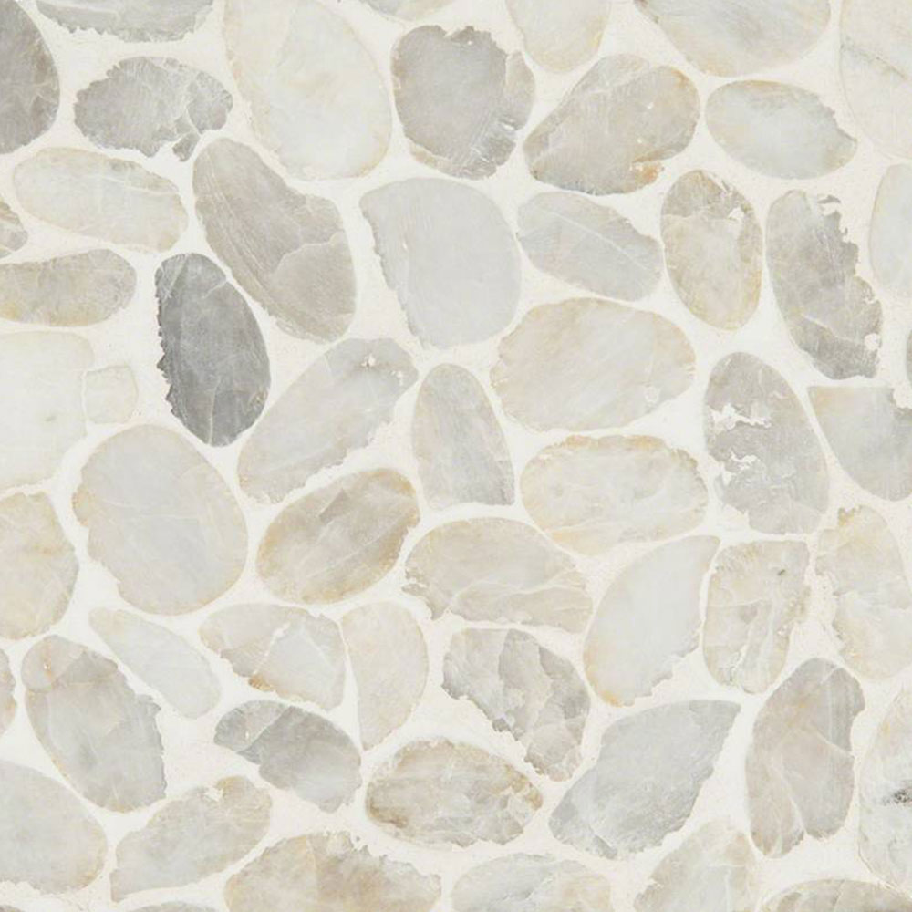 MS International Rio Lago Pebble Mosaics 12 X 12 Tumbled Dorado Pebble