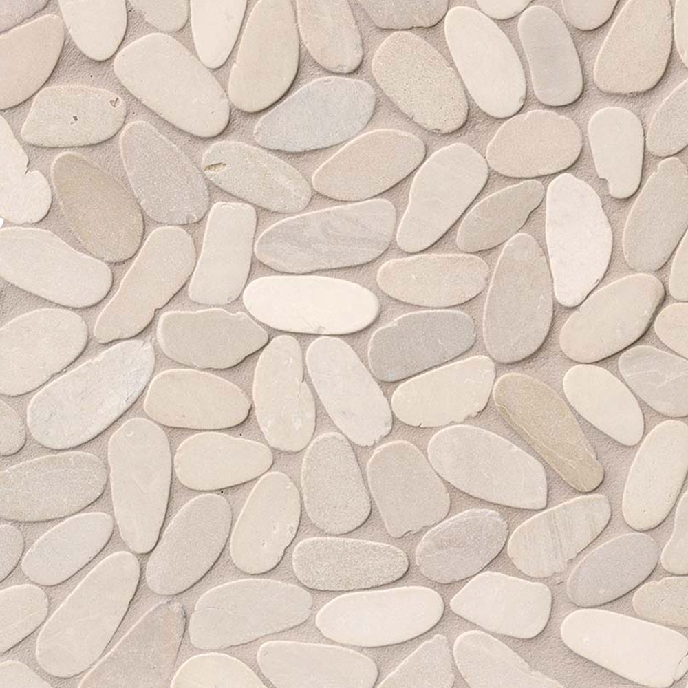 MS International Rio Lago Pebble Mosaics 12 X 12 Tumbled Sliced Pebble Earth