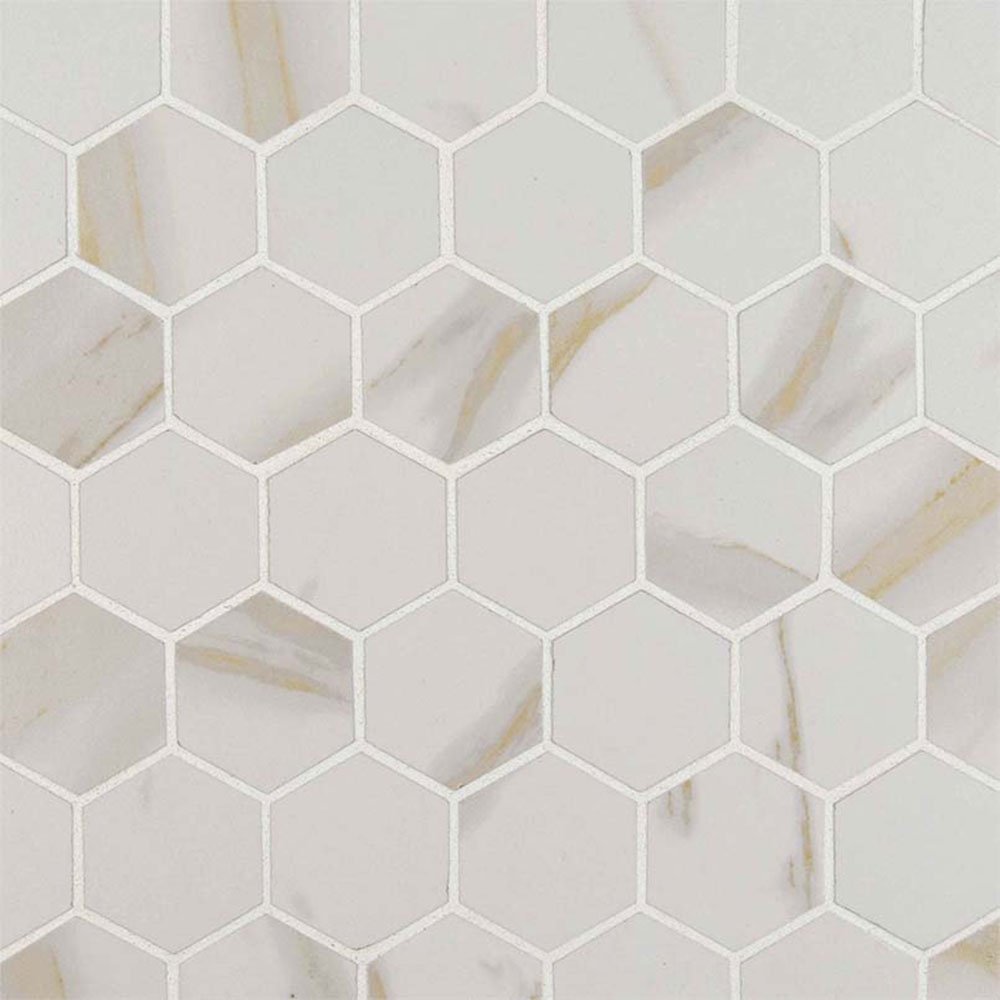 Ms International Pietra Mosaic Hexagon Calacatta