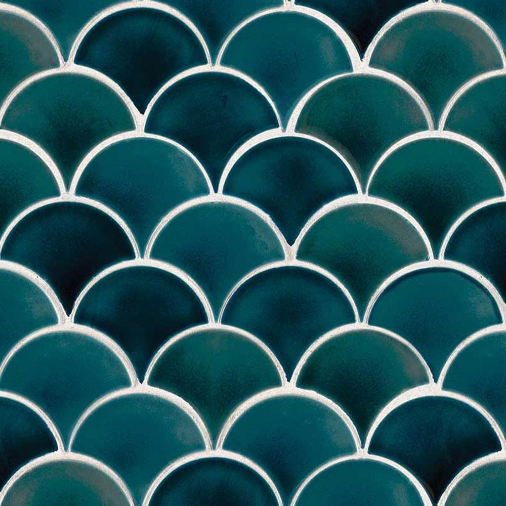 Ms International Scallop Mosaic Azul
