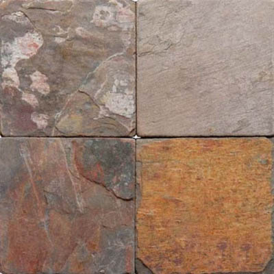 MS International Slate and Quartzite 6 x 6 Multi Classic
