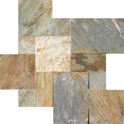 MS International Slate and Quartzite Versailles Golden White
