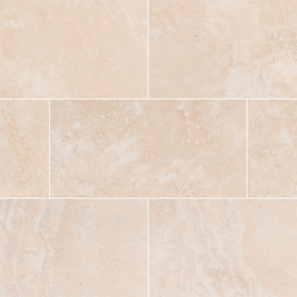 MS International Travertine 12 x 24 Honed Filled Tuscany Beige