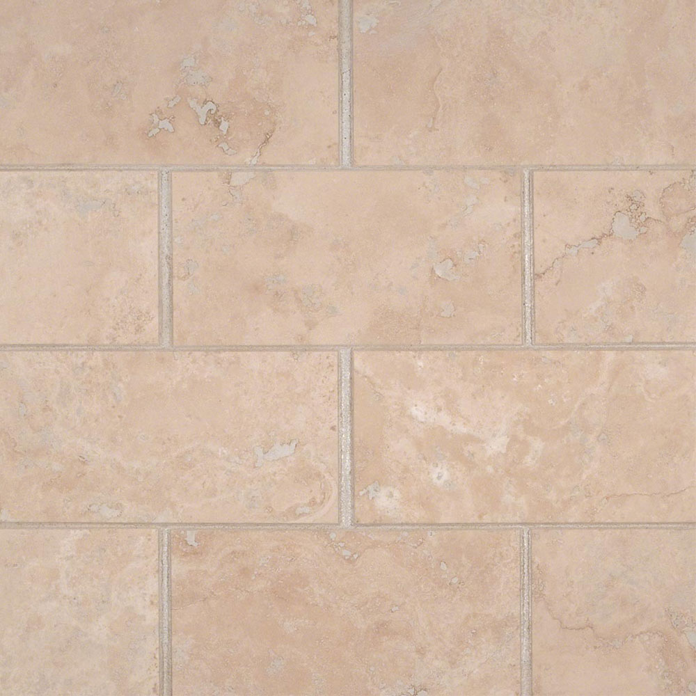 MS International Travertine 3 x 6 Honed Filled Durango Cream