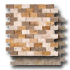 Travertine Mosaic Splitface 1 x 2
