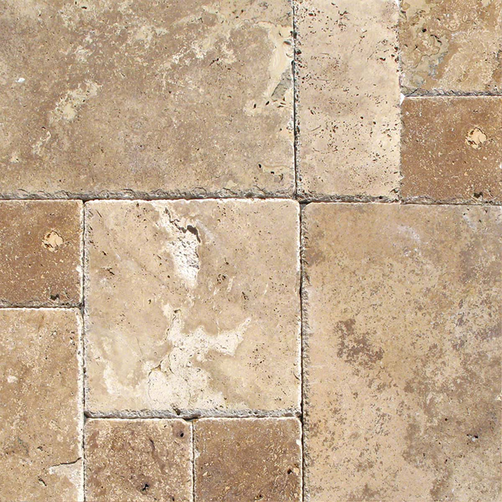 MS International Travertine Versailles Honed Unfilled Chiseled Tuscany Chateaux