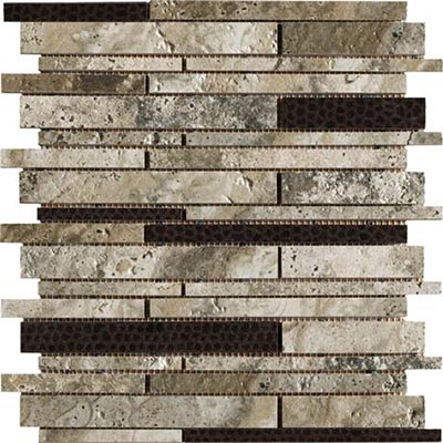 Marazzi Archaeology Mosaic Random Strip Crystal River