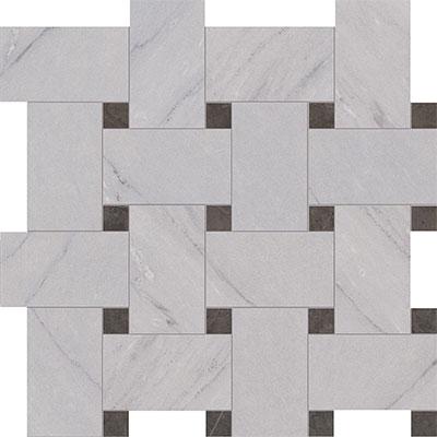 Marca Corona Deluxe Floor Mosaic Basketweave Reflex Tile Stone Colors