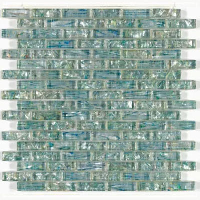 Mohawk Accents Brick Joint Glass Mosaic Emerald Mist