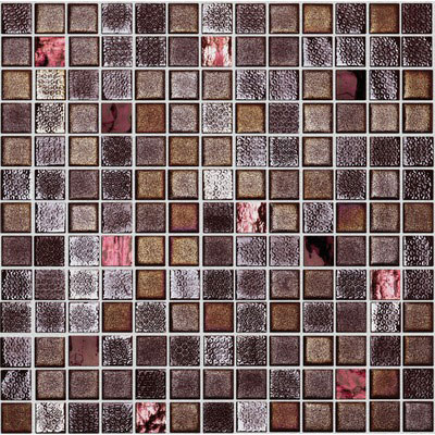 Onix Mosaico Fuse Glass Mosaic Rust/Red
