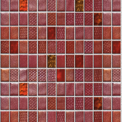Onix Mosaico Fuse Glass Mosaic Reds