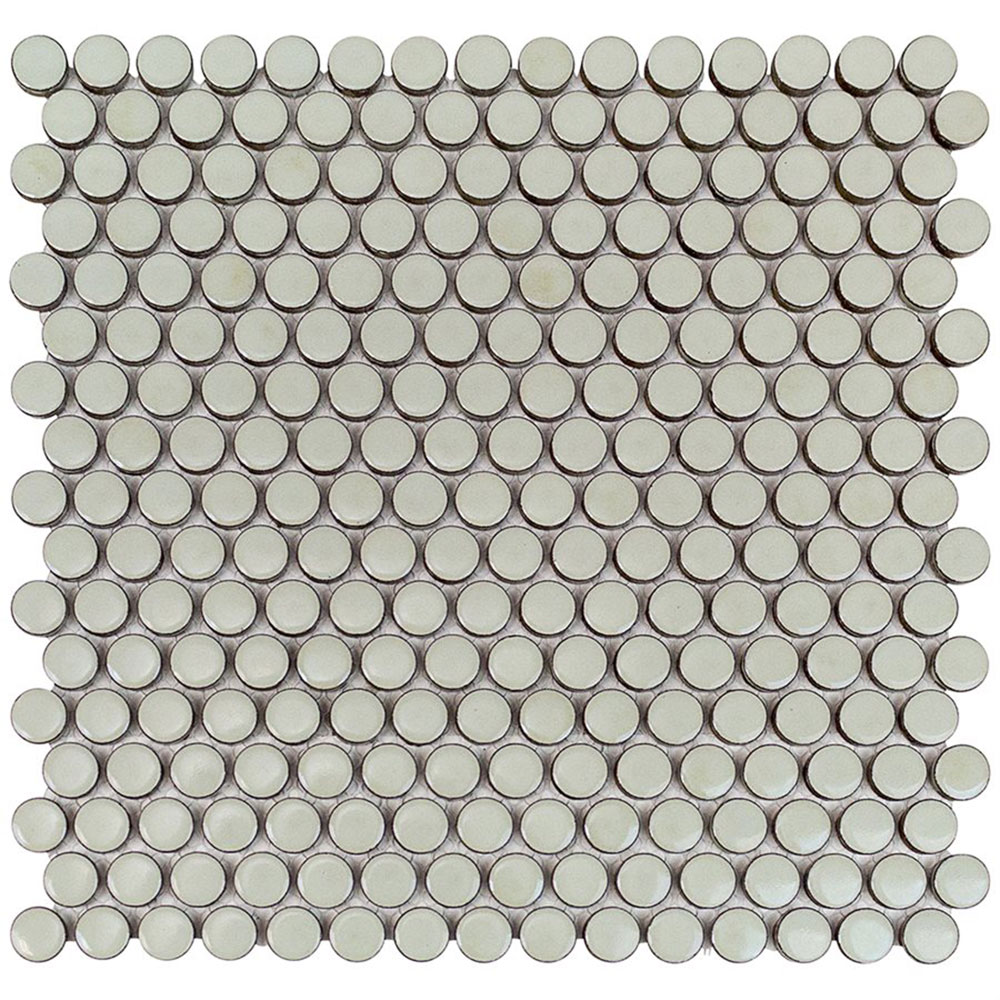 Soho Studio Corp Simple Mosaic Rimmed Penny Rounds Sage