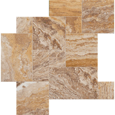 Tesoro Pietra Antica Chiseled Brushed Versailles Scabos Veneziano