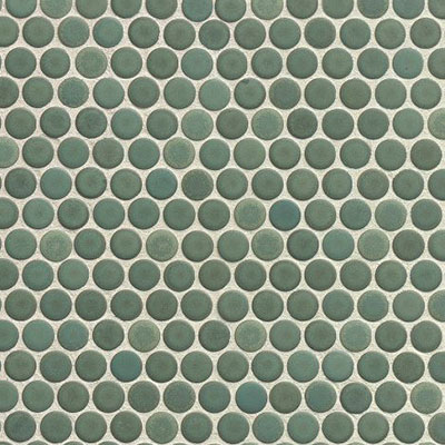 Bedrosians 360 Penny Rounds Mosaic Matte Silver Sage