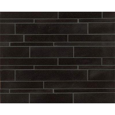 Tilecrest Granite Stone Mosaics Absolute Black Random Linear