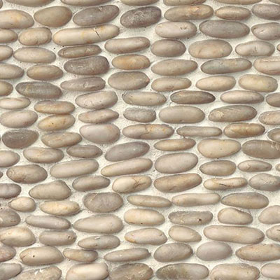 Bedrosians Hemisphere Stacked Pebble Mosaic Polished Fatima Cream