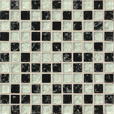 Bedrosians Ice Crackle Mosaic Gloss Black