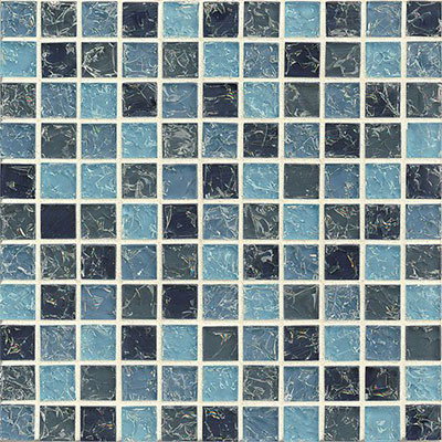 Bedrosians Ice Crackle Mosaic Gloss Blue