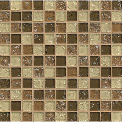 Bedrosians Ice Crackle Mosaic Gloss Brown