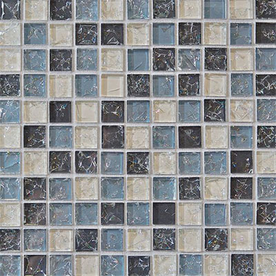 Bedrosians Ice Crackle Mosaic Gloss Gray