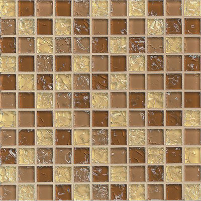 Bedrosians Ice Crackle Mosaic Gloss Tan