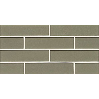 Bedrosians Manhattan Glass Mosaic 2 x 8 Gloss Mint
