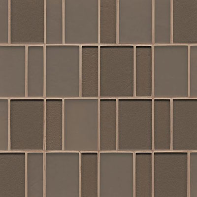Bedrosians Manhattan Glass Mosaic Brick Pattern Ash